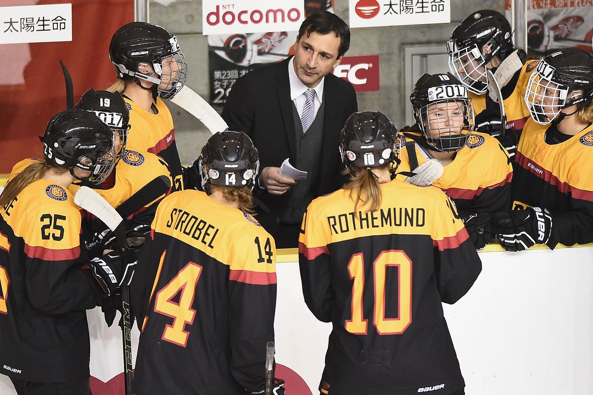 Japan v Germany - Women's Ice Hockey Olympic Qualification Final - Group D