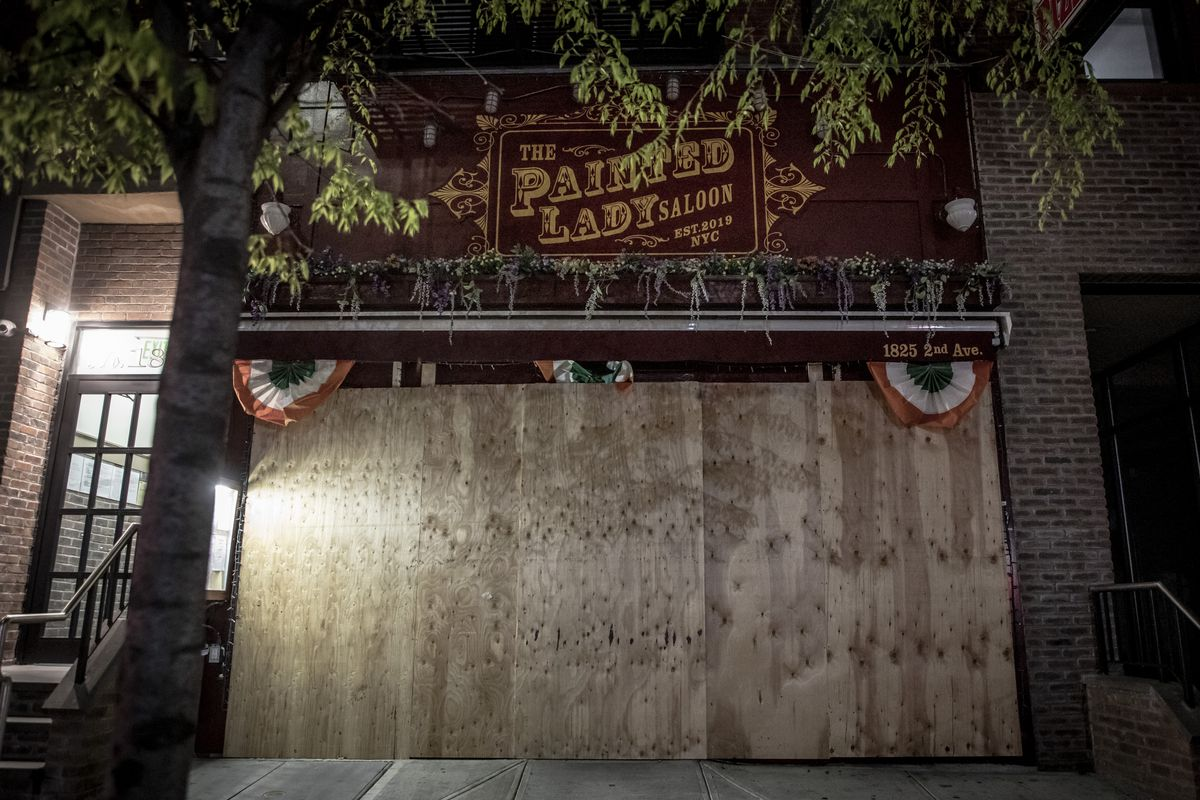 The Painted Lady saloon, boarded up