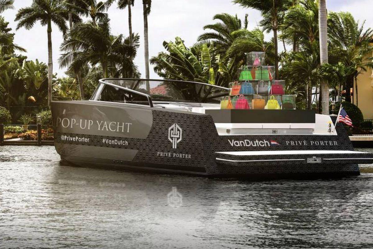 A rendering of the VanDutch and Birkin pop-up yacht