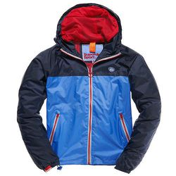 """<strong>Superdry</strong> Colour Block Cagoule in Navy/Powder Blue <a href=""""http://www.superdry.com/mens/jackets/details/44066/colour-block-cagoule"""">$90</a>"""