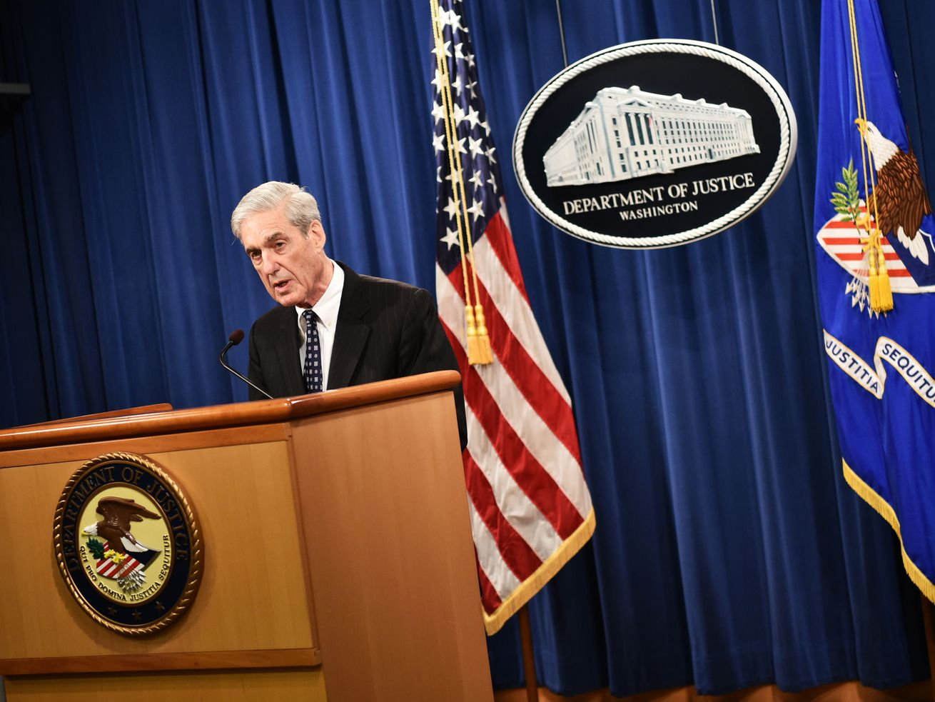 Special Counsel Robert Mueller speaks on the investigation into Russian interference in the 2016 Presidential election, at the US Justice Department in Washington, DC, on May 29, 2019.