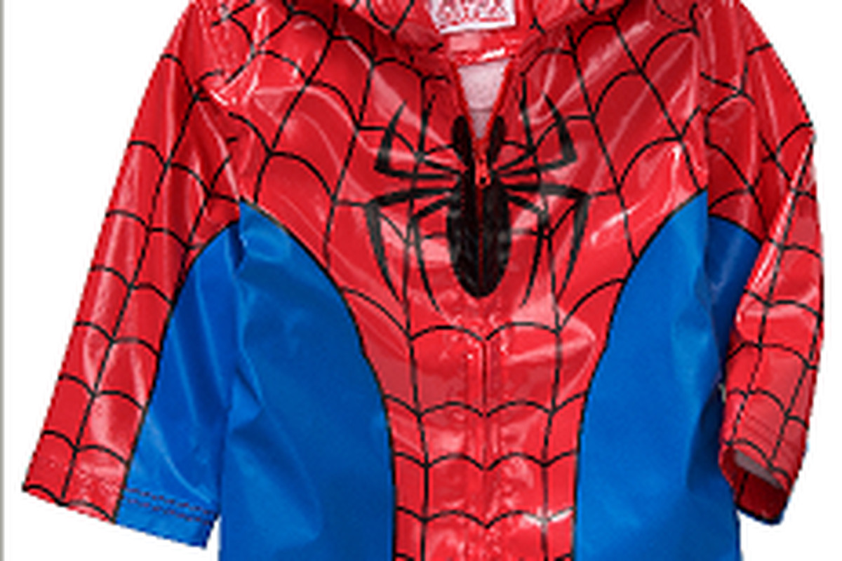 old navy apologizes for this lead filled spider man rain jacket