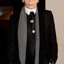 Karl Lagerfeld attends the 'Percorso Di Lavoro' photography exhibition cocktail party held at Chiostro Del Bramante on February 15, 2011 in Rome, Italy.