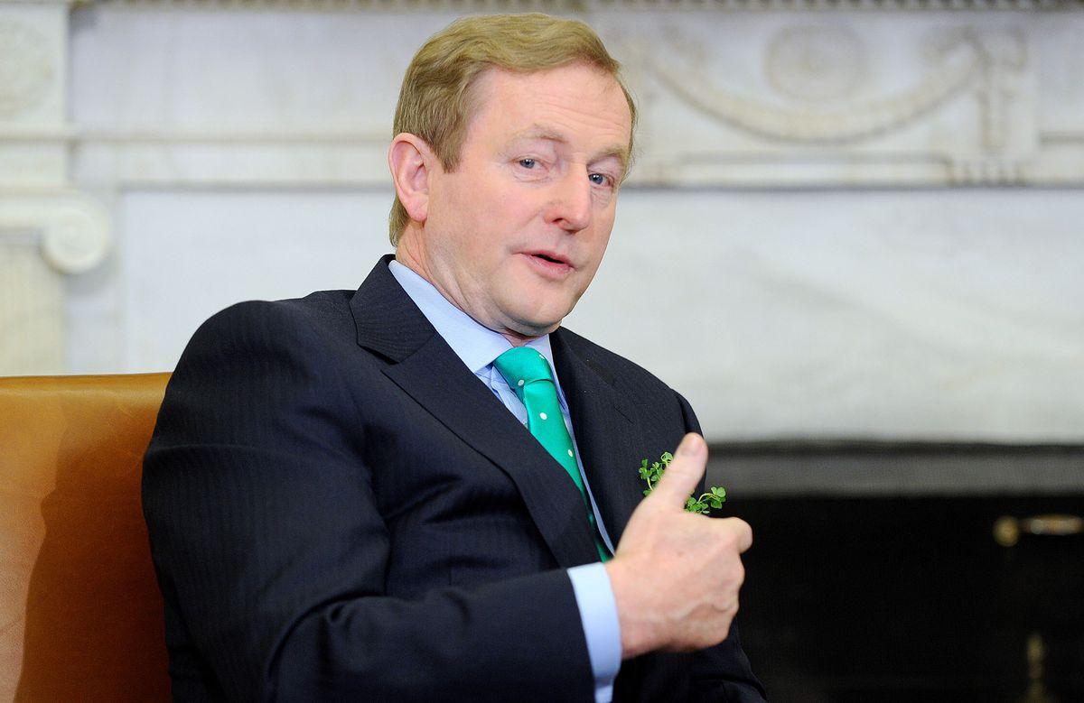 Irish Prime Minister Enda Kenny in the White House.