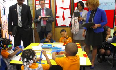 A classroom at a Success Academy elementary school.