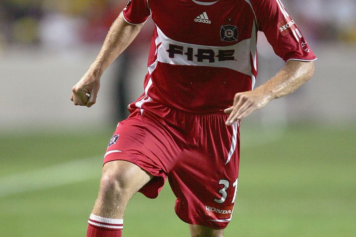 Floyd Franks as a rookie with the Chicago Fire. (Jonathan Daniel/Getty Images)