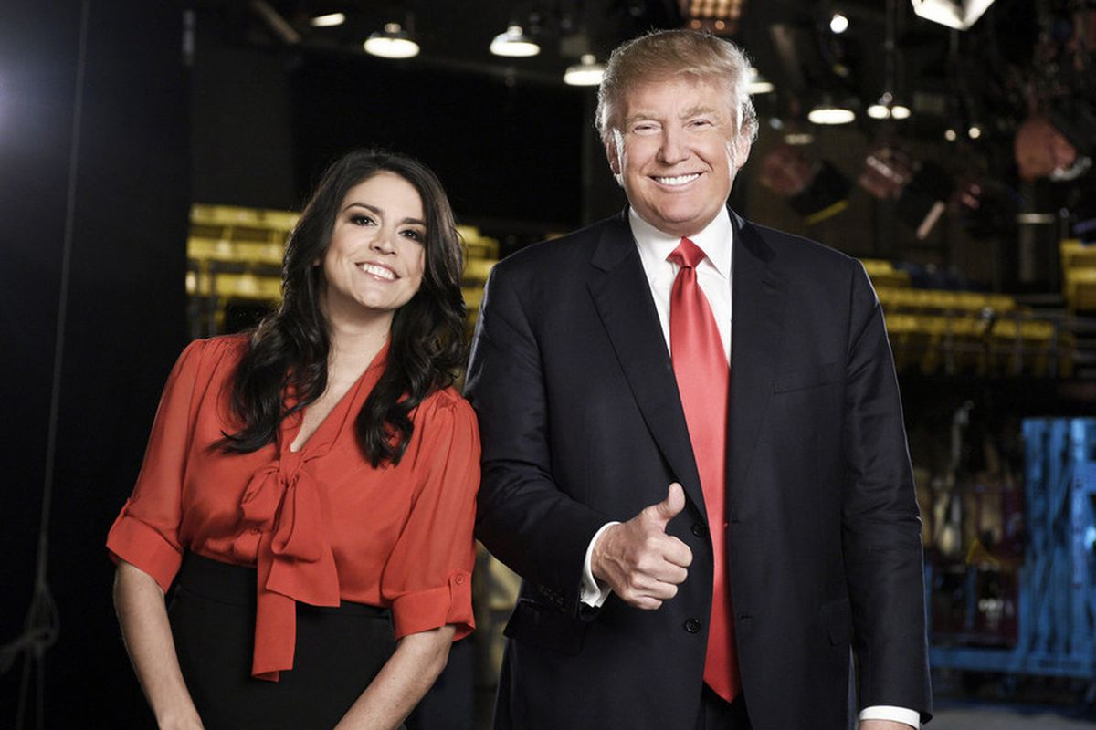 Cecily Strong and Donald Trump