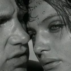"""Screen shot of Chris Isaak's """"Wicked Game"""" music video, directed by Herb Ritts"""