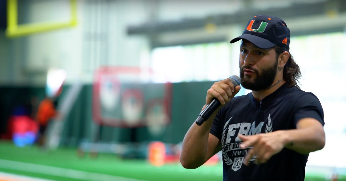 The Weekly Grind: Jorge Masvidal gives inspiring speech to Miami Hurricanes, Ryan Bader cracks up Steve Harvey in Family Feud