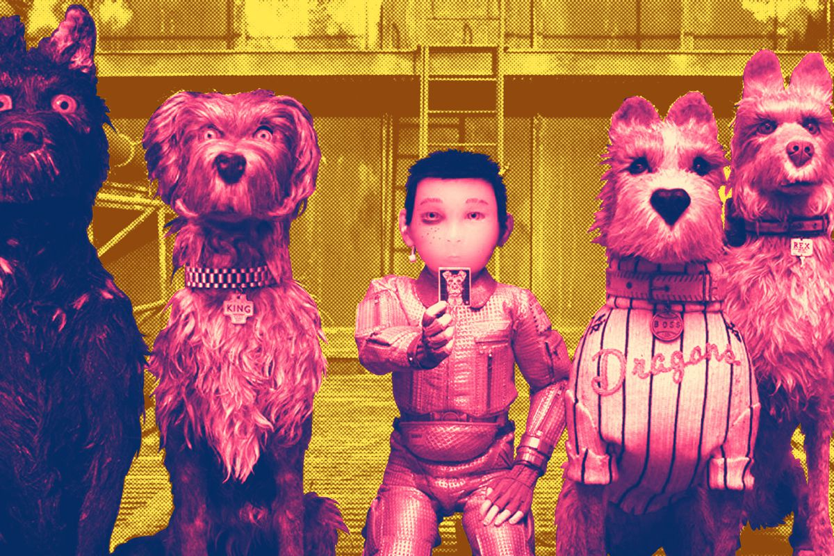 A treated image from 'Isle of Dogs'