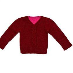 Baby boys alpaca V-neck sweater