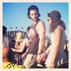 "Penn Badgley and Zoe Kravitz. Image via <a href=""http://instagr.am/p/JtB5LpvzQc/"">Instagram/Natalie Copeland</a>"