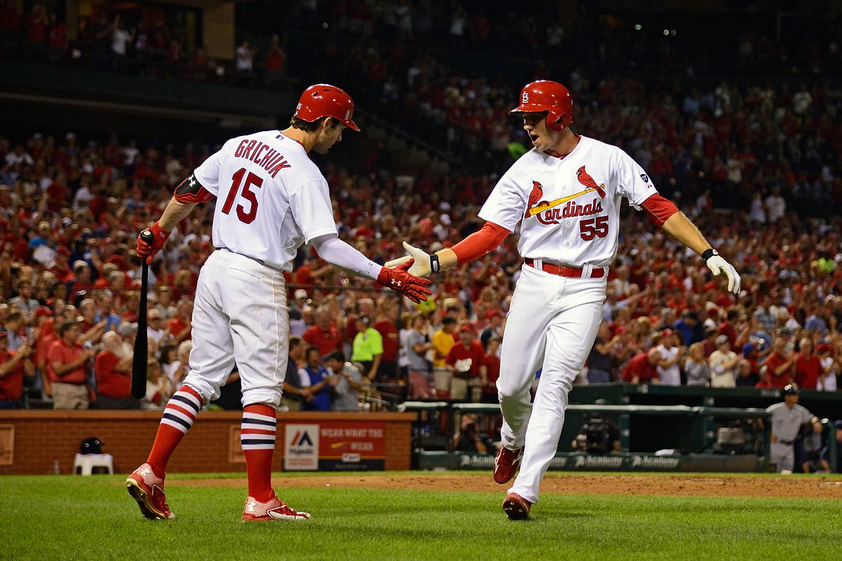 Stephen Piscotty and Randal Grichuk
