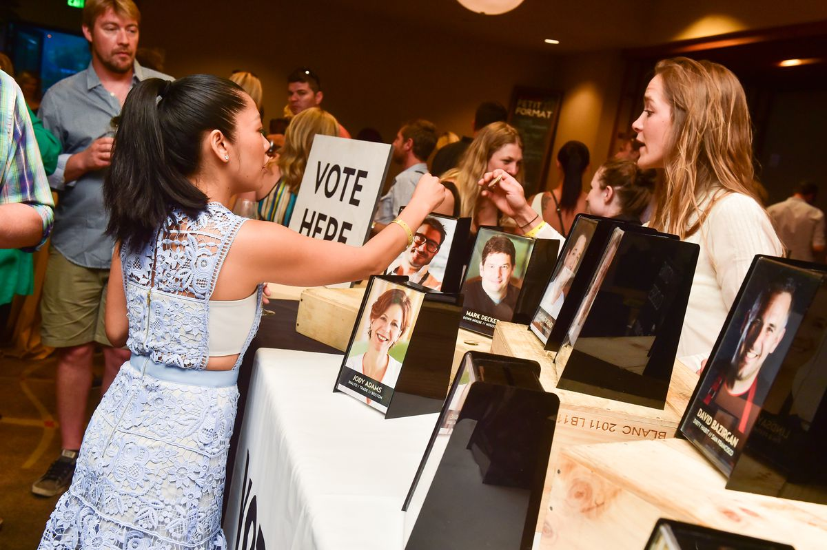 Guests voting at Grand Cochon. Photo by Flatow Photography/Cochon 555