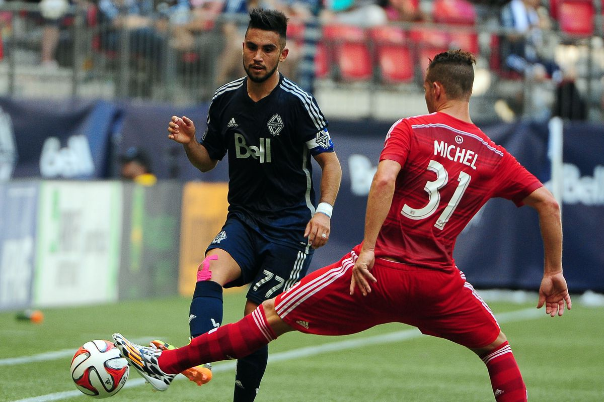 Vancouver's Designated Player Pedro Morales with another fantastic performance.