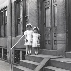 This is Linda and her older sister, Lela, in Philadelphia in 1951 where the Yu family first settled in America.   Linda Yu Family Photos