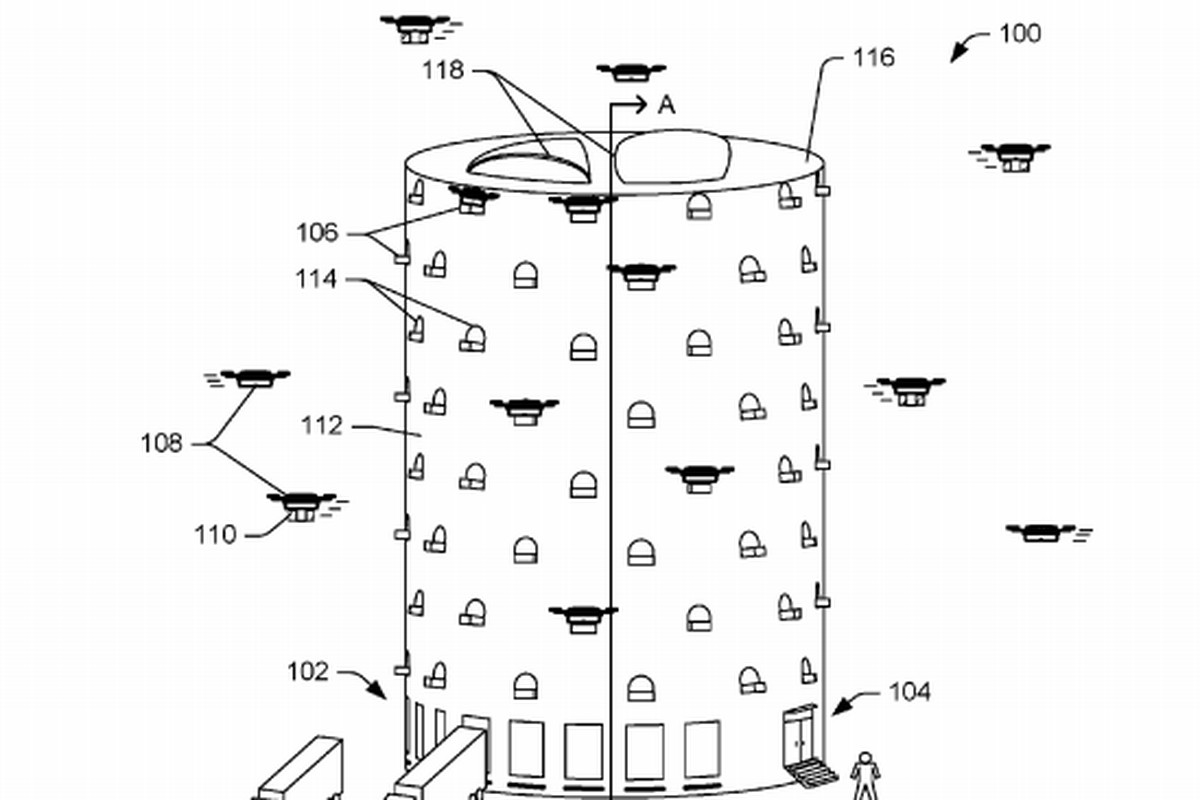 Amazon Patents Beehive-Like Structures To House Delivery Drones In Cities
