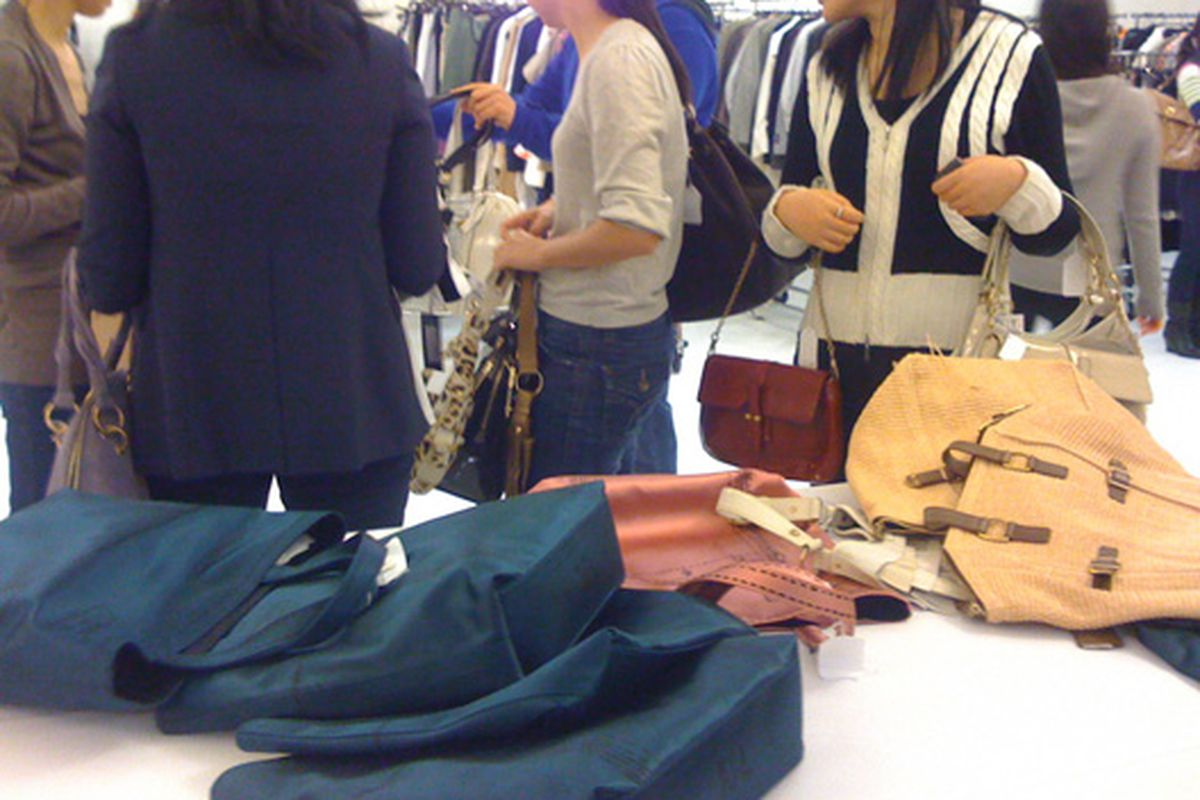 Shoppers at the sale yesterday