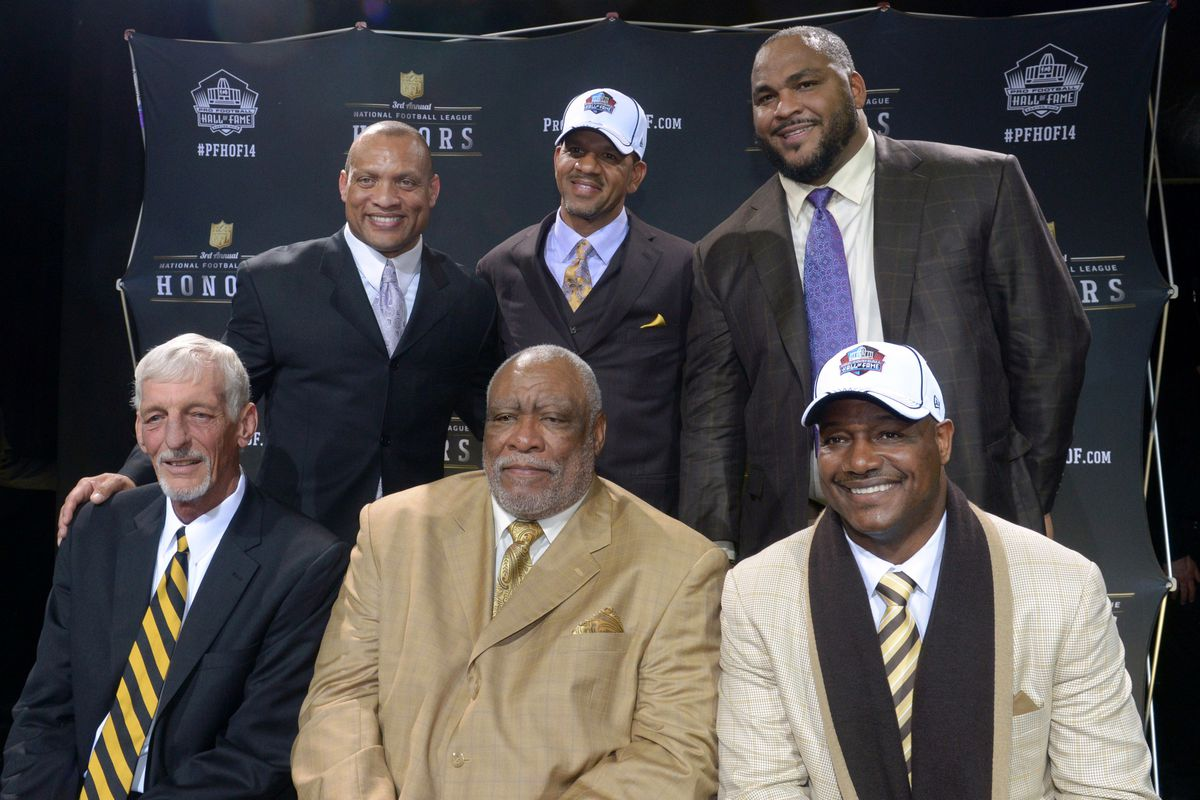 nfl hall of fame 2014 inductees include michael strahan, andre reed