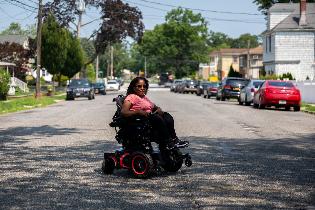 Valerie Joseph mostly uses public transportation to travel from her Queens Village home, July 16, 2021.