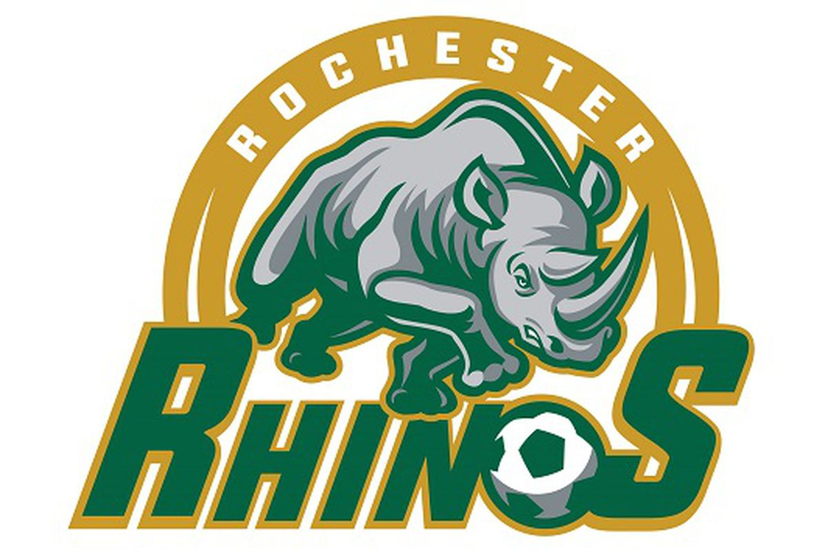 The secondary logo for the Rochester Rhinos after the 2016 club re-launch under new owners David and Wendy Dworkin