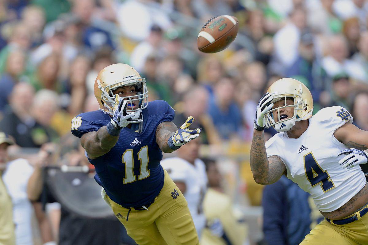 NCAA FOOTBALL: APR 12 Notre Dame Blue-Gold Spring Football Game