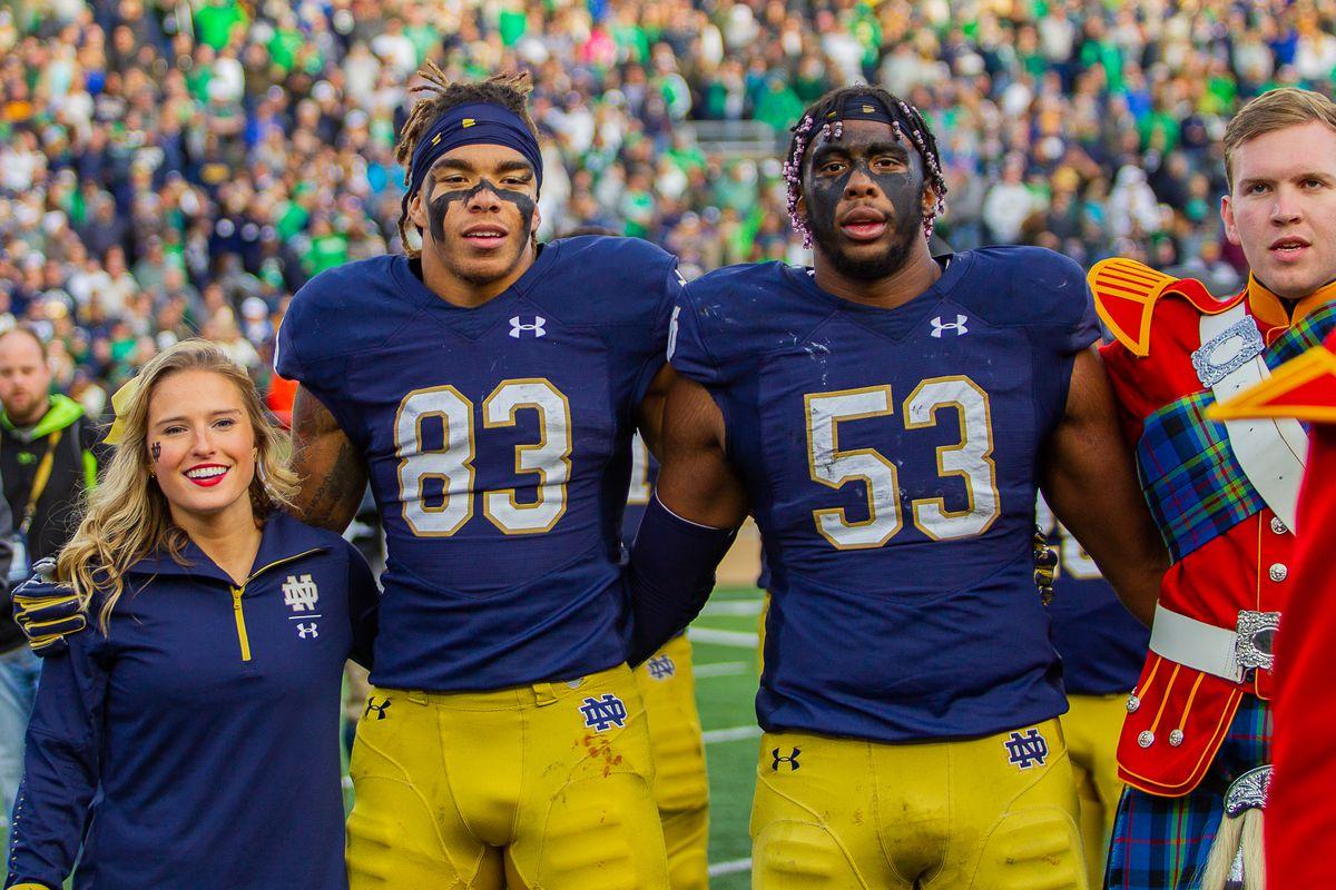 Chase Claypool & Khalid Kareem Notre Dame football