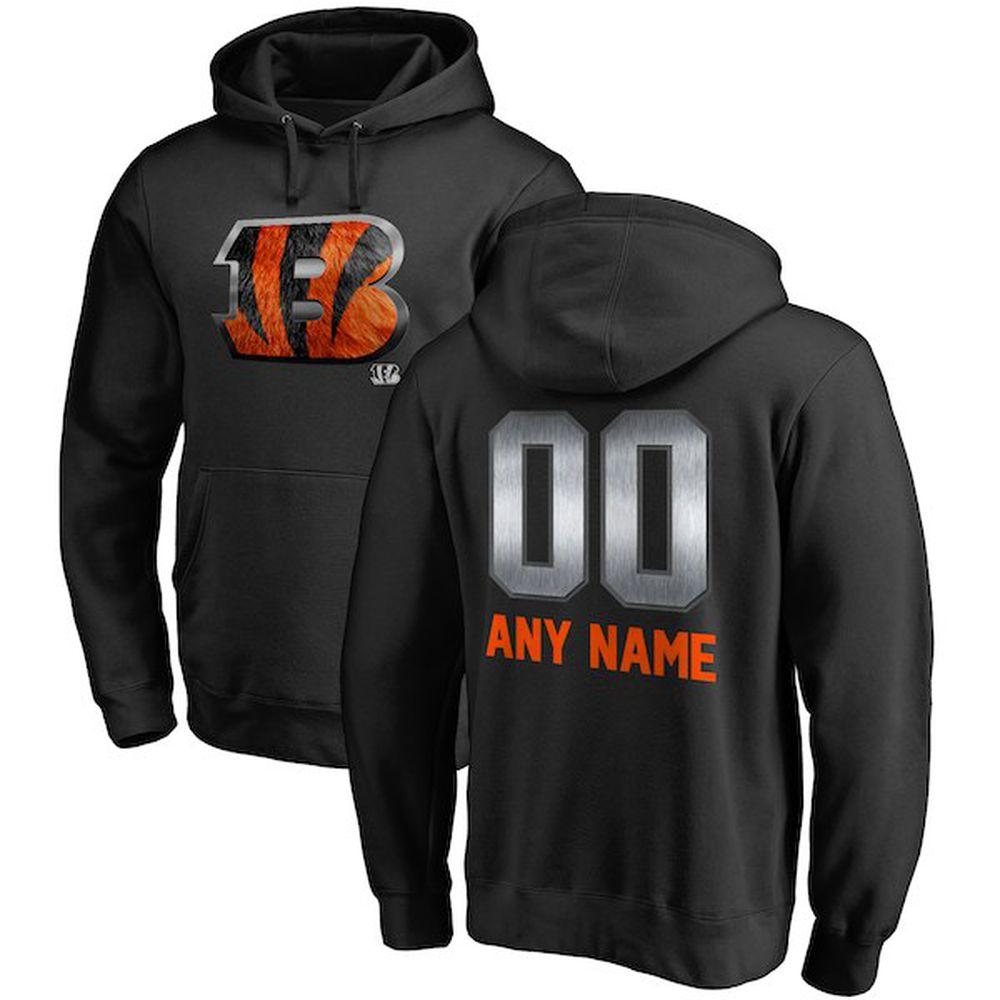 Cincinnati Bengals Personalized Midnight Mascot Pullover Hoodie – Black f077237e8