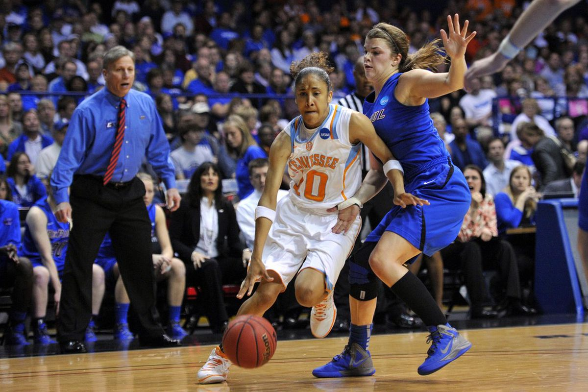 When Meighan Simmons is on her game, the Tennessee Lady Vols are really hard to beat. Unfortunately, she's just been just as inconsistent as the team as a whole this season. <em>Rob Grabowski-US PRESSWIRE</em>