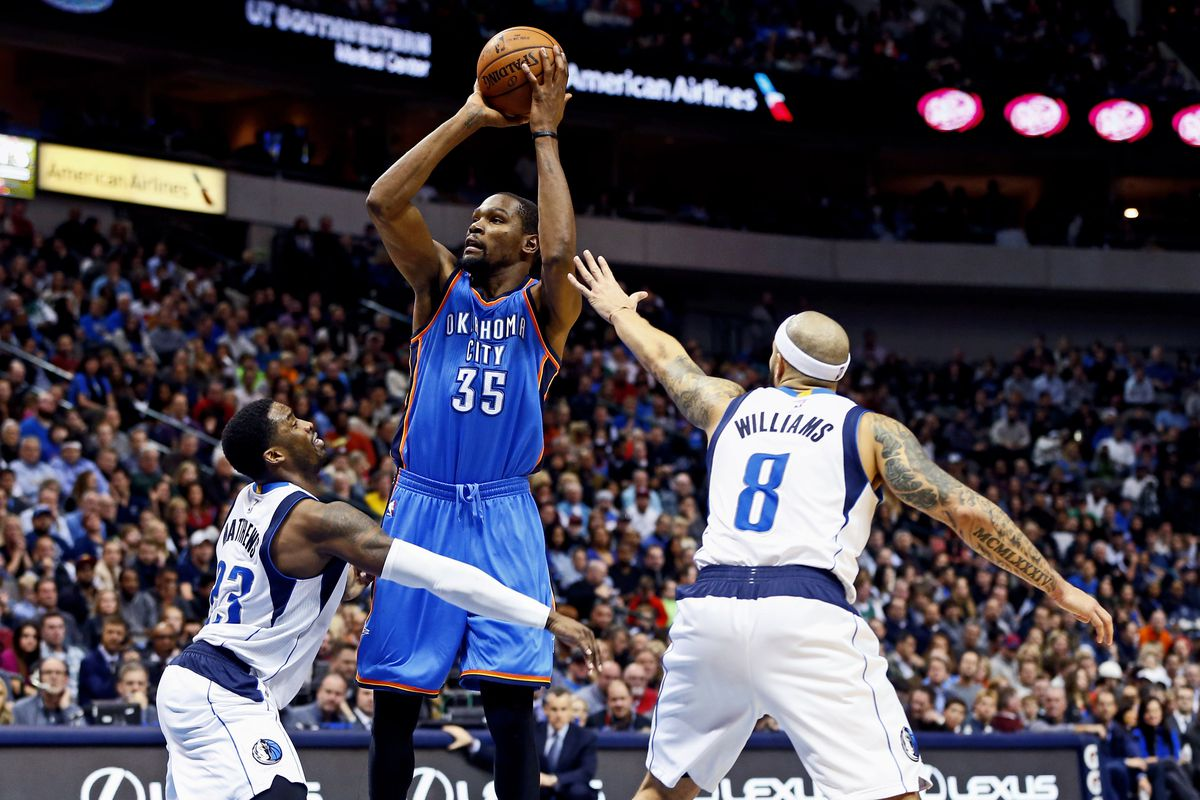 Do the Mavericks have a chance of defending Kevin Durant or Russell  Westbrook  7110a12fa774