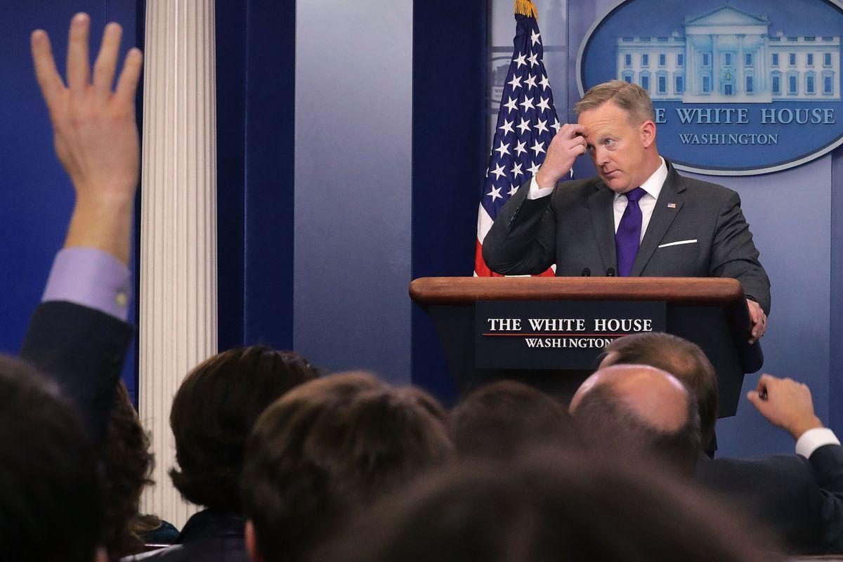 White House Press Secretary Sean Spicer holds a daily press briefing February 7, 2017