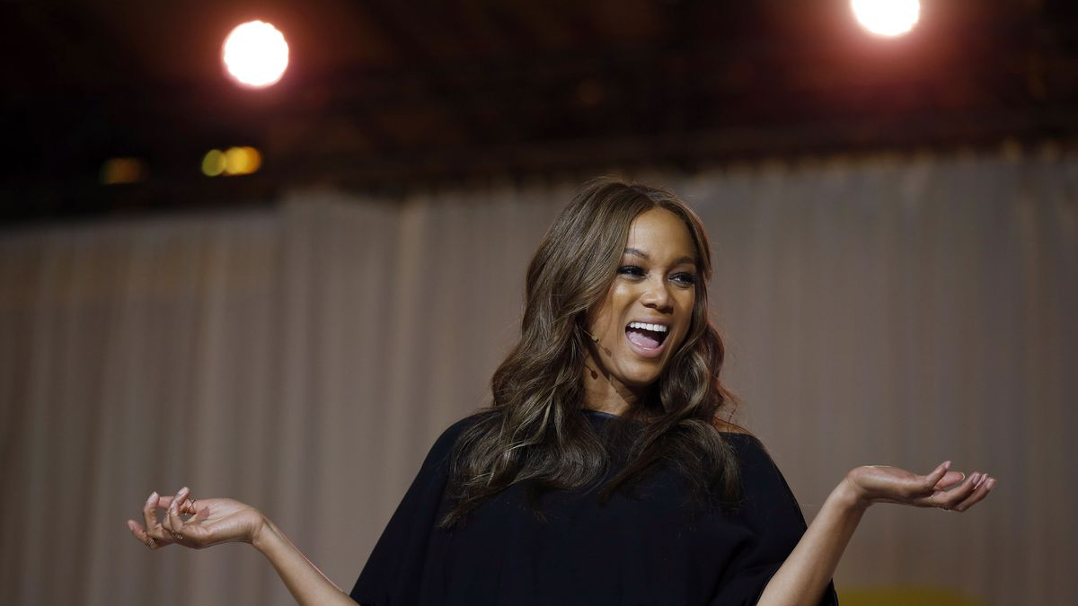 Tyra Banks onstage at Fierce Up.
