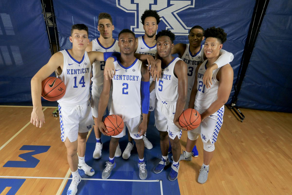 c6e669ab664 Kentucky s Fresh Faces pose for a picture during Media Day Mark Zerof-USA  TODAY Sports