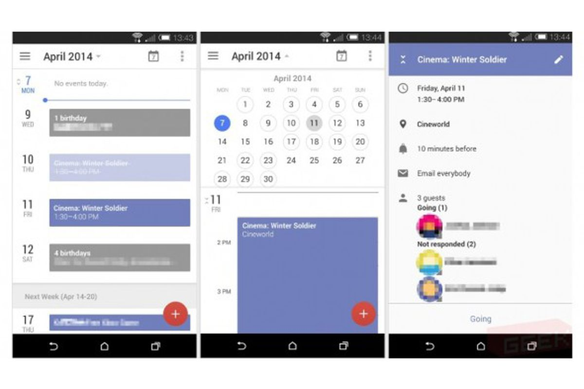 Calendar App Android : Google testing all new design for android s calendar app