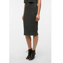 """<b>Sparkle & Fade</b> Sweater Knit Hobble Skirt in dark grey, <a href=""""http://www.urbanoutfitters.com/urban/catalog/productdetail.jsp?id=27329820&parentid=W_BOTTOMS"""">$49</a> at Urban Outfitters"""