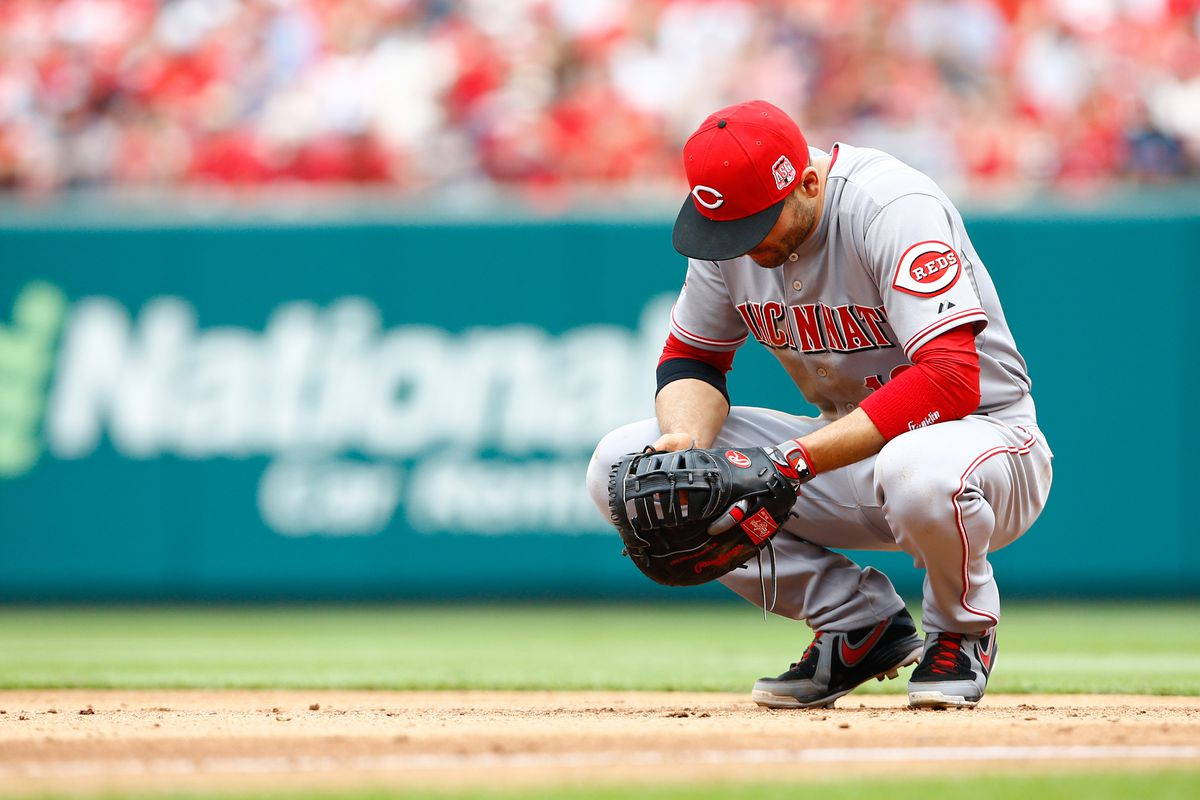 Joey Votto and the Reds are sad. There's a good reason for that