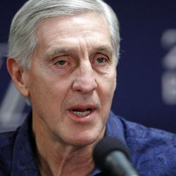 Jerry Sloan speaks as he and the Utah Jazz hold a press conference Thursday, Feb. 10, 2011 at the Zions Bank Basketball Cener announcing the retirement of Coach Jerry Sloan and Assistant Coach Phil Johnson.