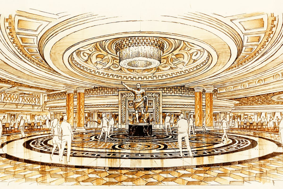 A rendering of the huge changes coming to the Caesars Palace main lobby.