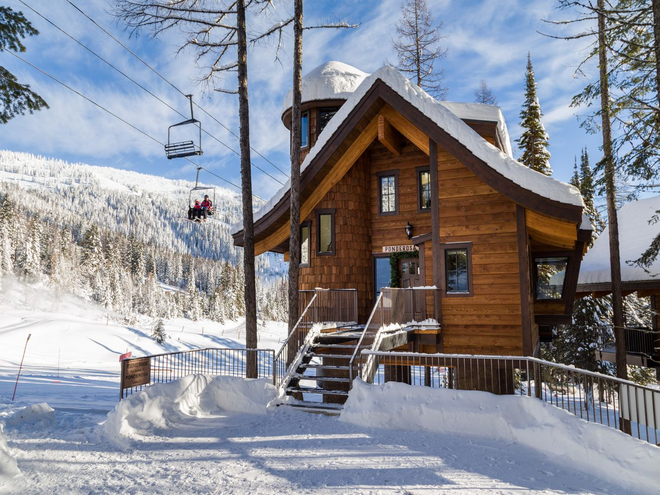 Located slopeside at Montana's Whitefish Mountain Resort, these treehouses offer unique ski-in/ski-out lodging.