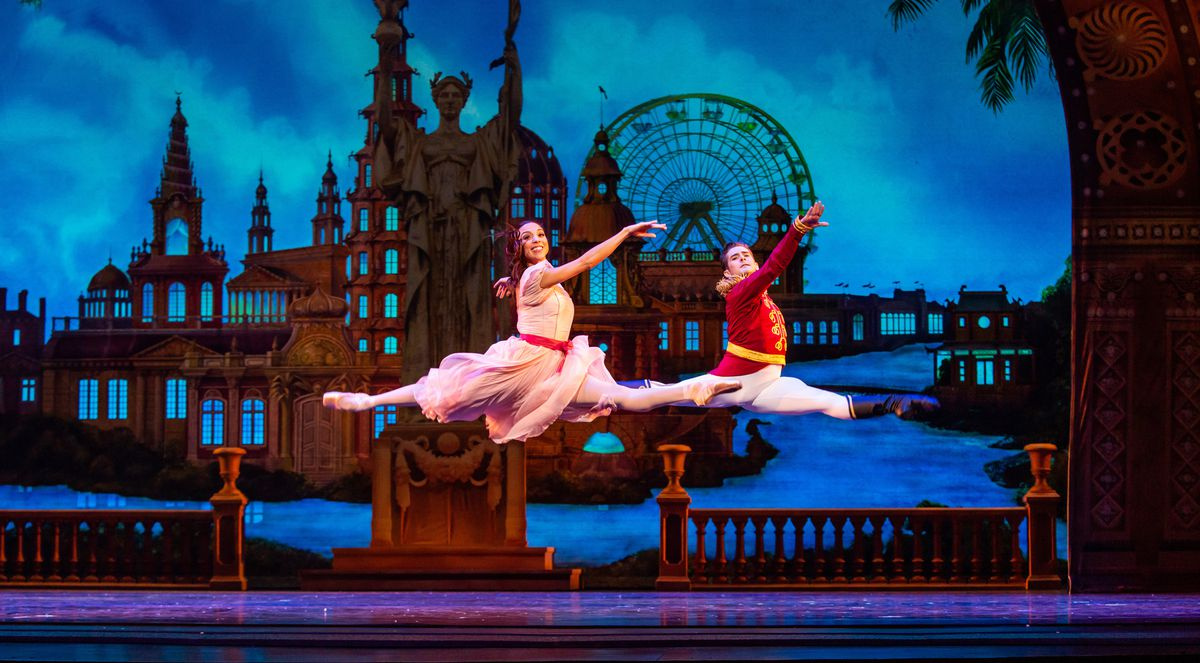 """Anais Bueno and Greig Matthews in the Joffrey Ballet's production of """"The Nutcracker."""""""