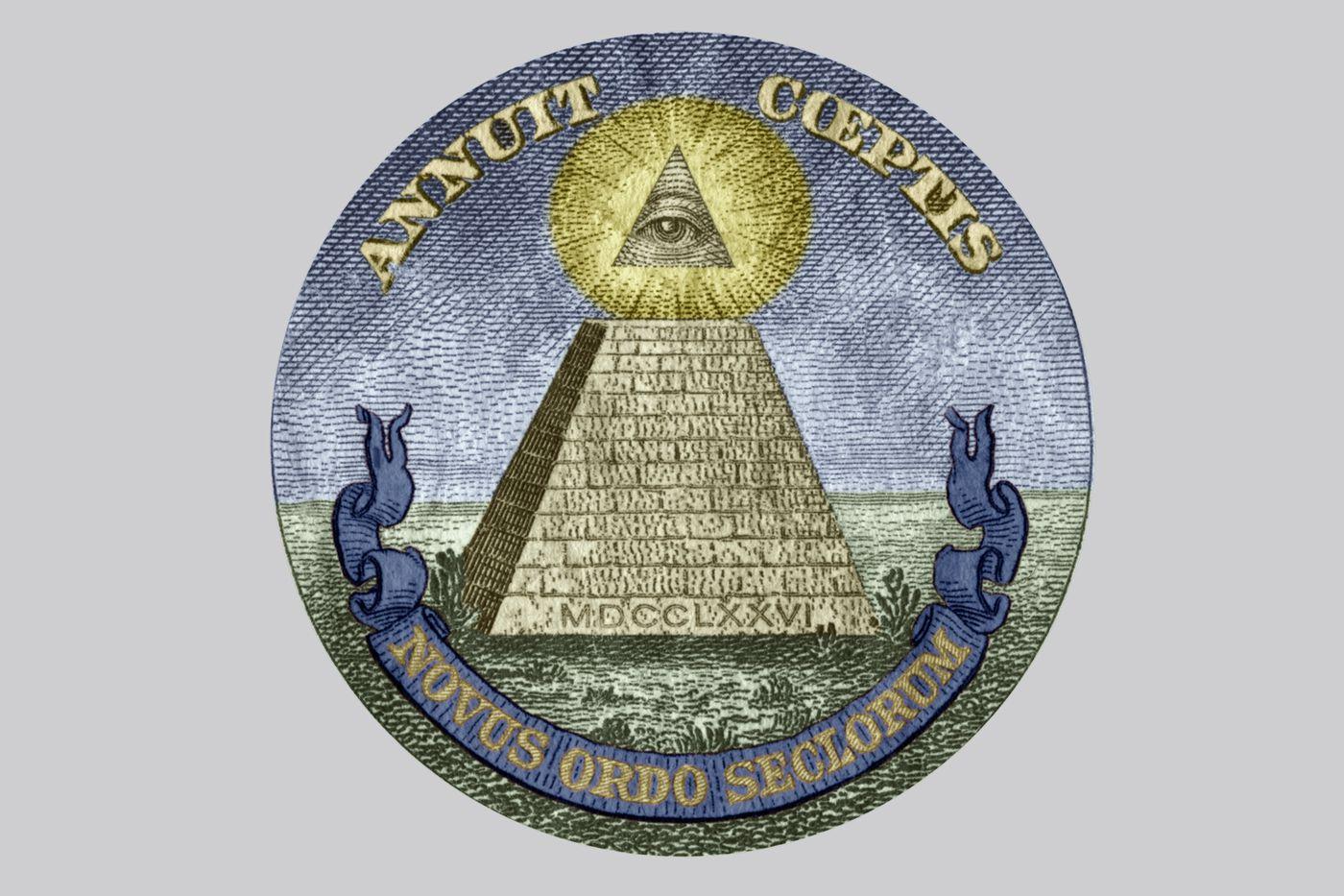 Kim tự tháp khó hiểu trên đồng đô la ... nhưng nó không phải là về Illuminati. Lưu trữ Hulton / Hình ảnh Getty