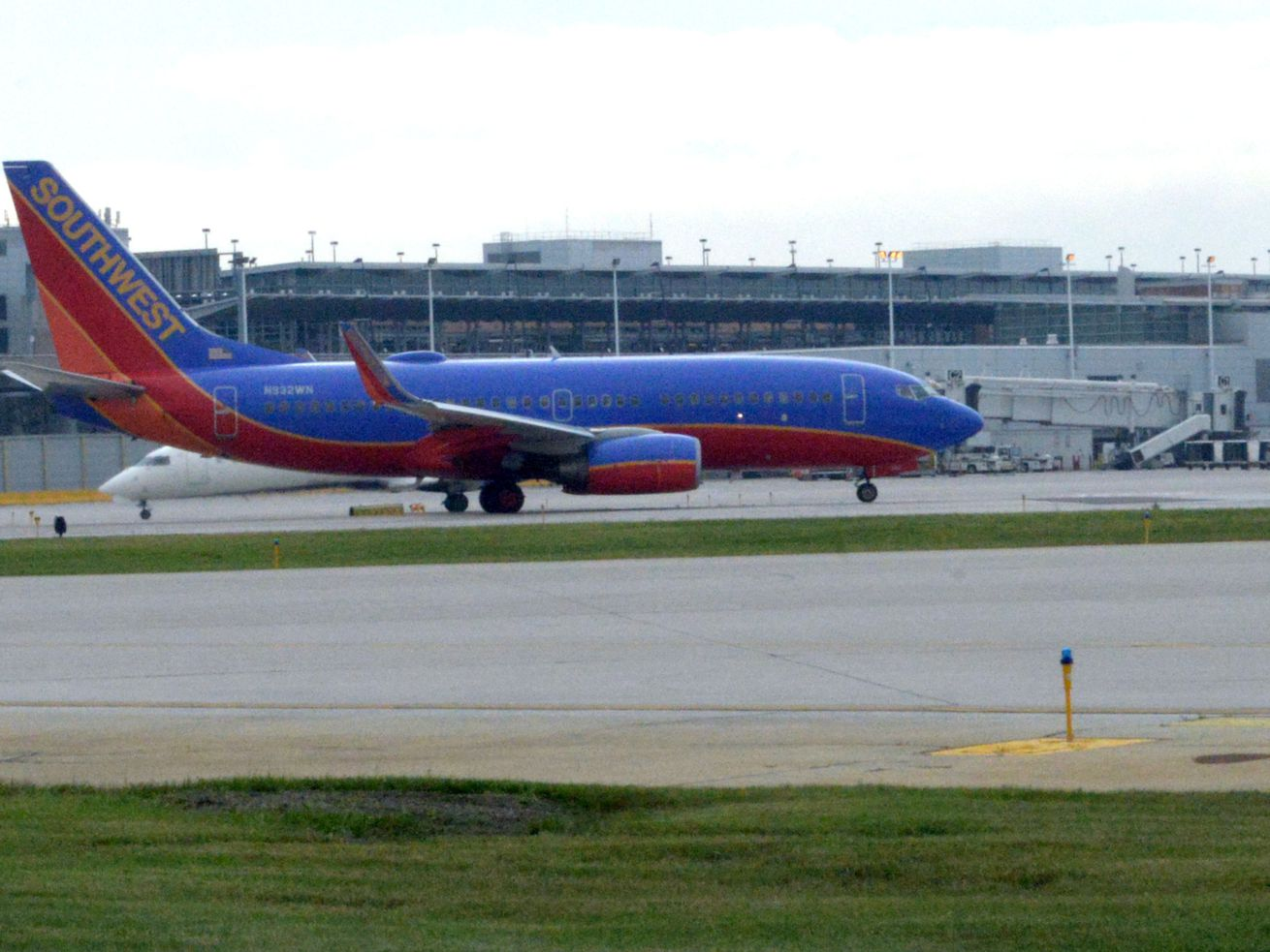 A Southwest Airlines jet at Midway Airport.
