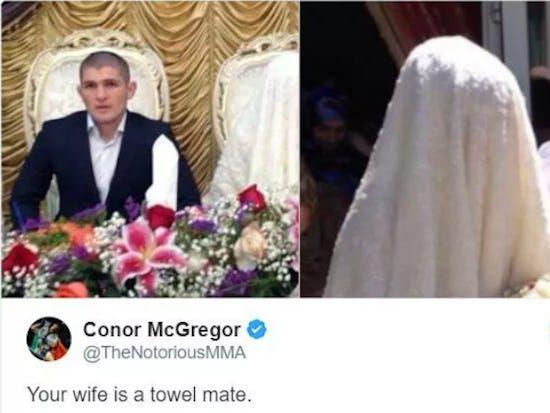 Conor Khabib towel
