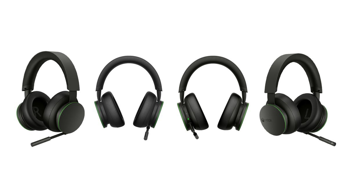 four renders of the Xbox Wireless Headset