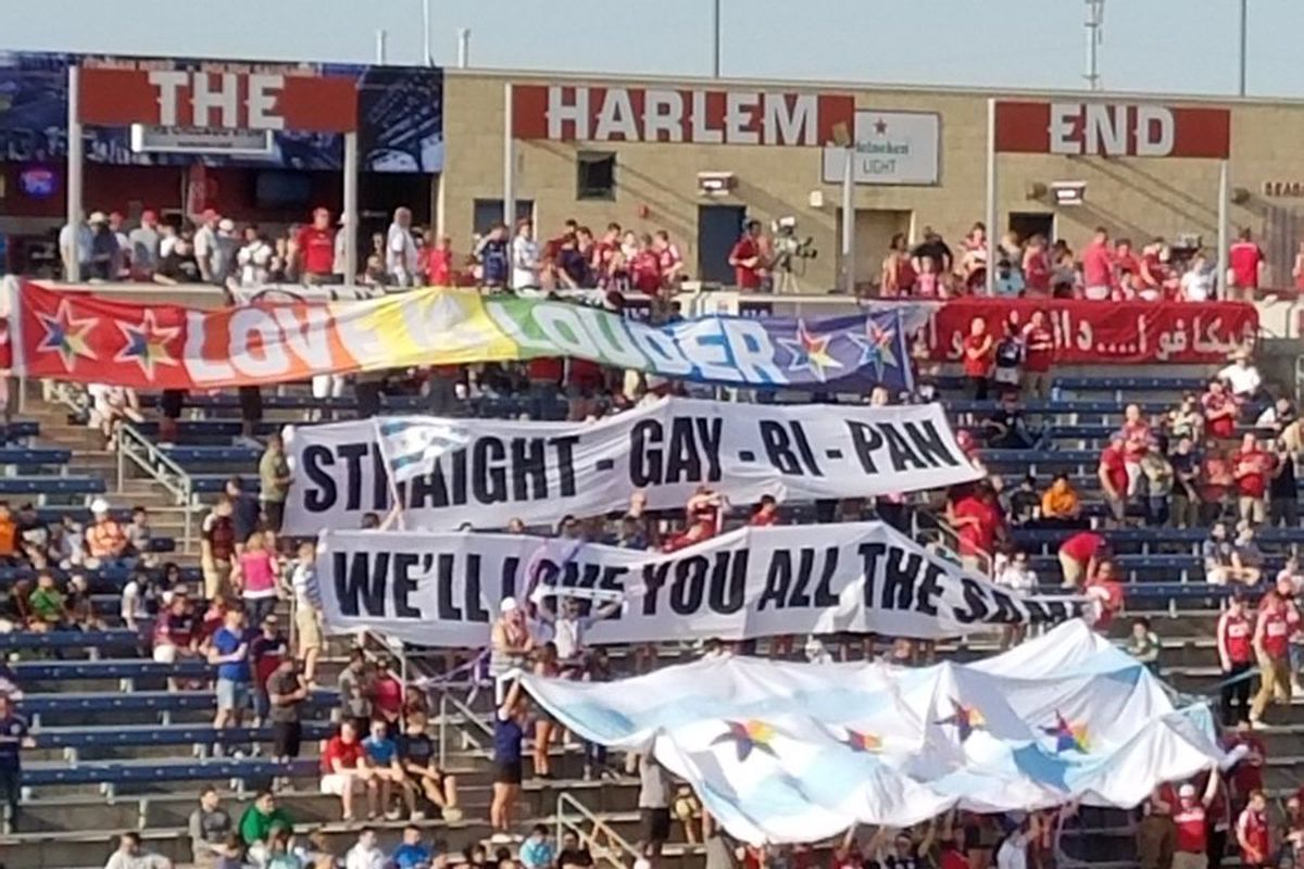 Section 8's Pride banners