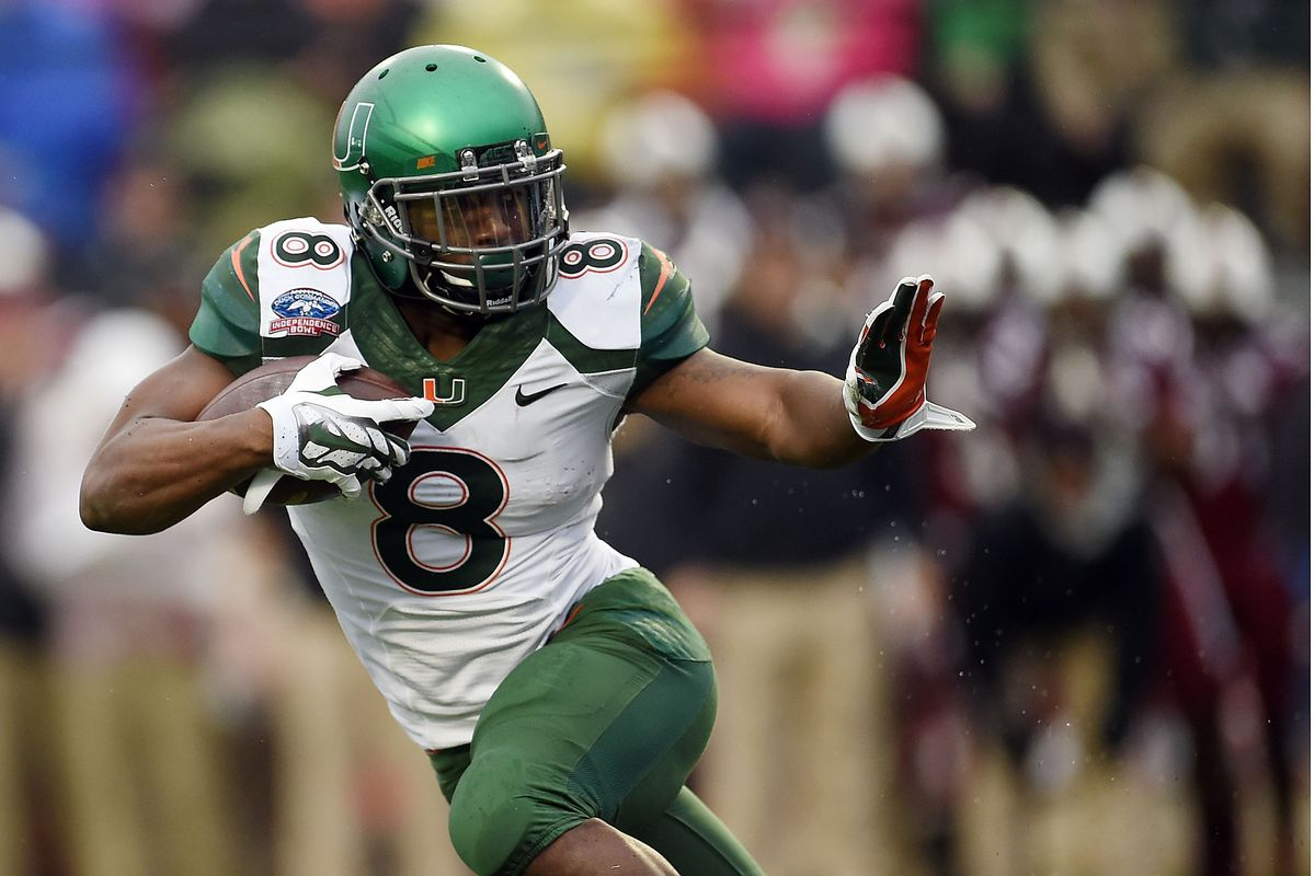 6328cbc22 8 Days to Miami Hurricanes Football: Top Cane to Wear #8 - State of ...