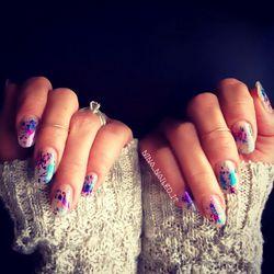 Wild Berry Foil Nails by Nina Park aka @NinaNailedIt