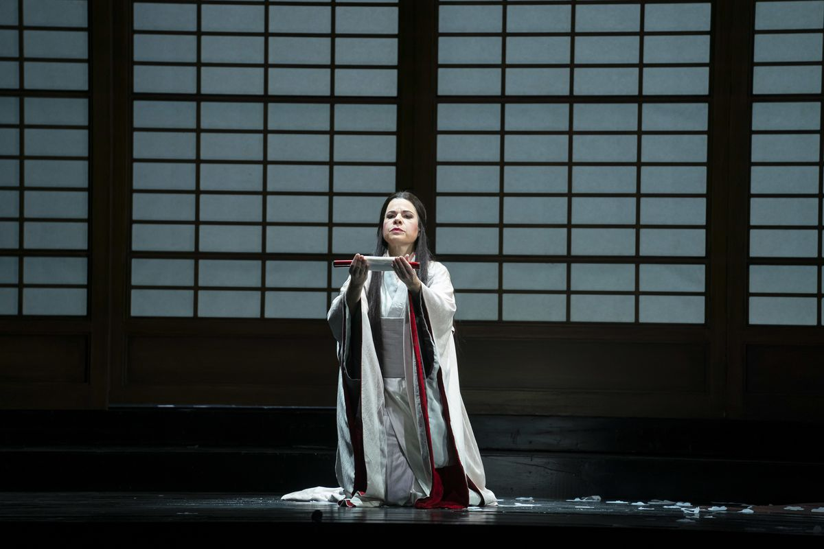 "Soprano Ana Maria Martinez stars as Cio-Cio-San in Lyric Opera's production of ""Madama Butterfly."""