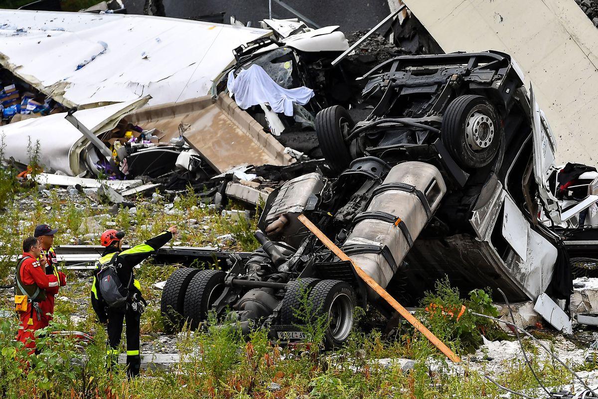 Morandi Highway Bridge Collapse in Genoa, Italy