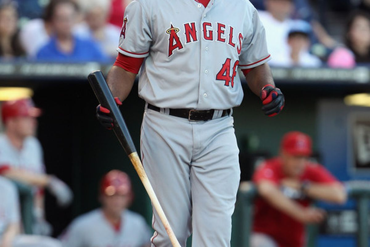 KANSAS CITY, MO - MAY 31:  Torii Hunter #48 of the Los Angeles Angels of Anaheim in action during the game against the Kansas City Royals on May 31, 2011 at Kauffman Stadium in Kansas City, Missouri.  (Photo by Jamie Squire/Getty Images)